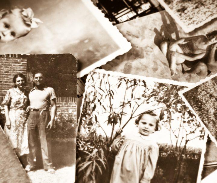 Vintage Family Black and White Photos