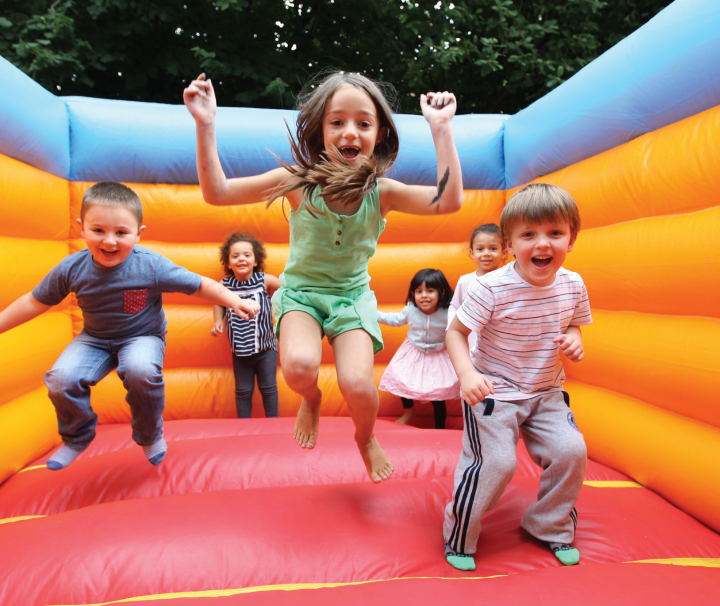 kids on bouncy castle