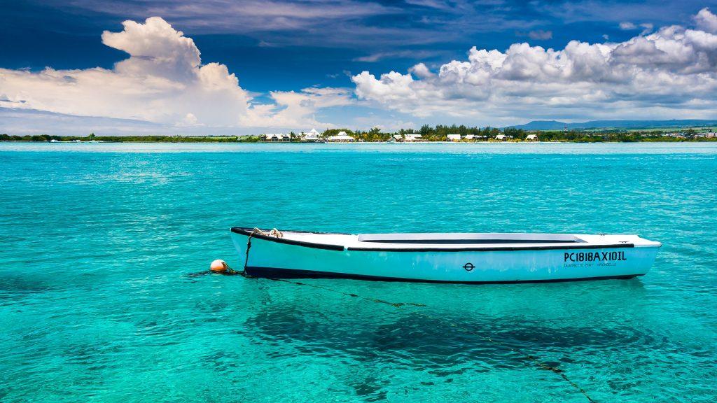 Wallpaper beach space needle boat mauritius